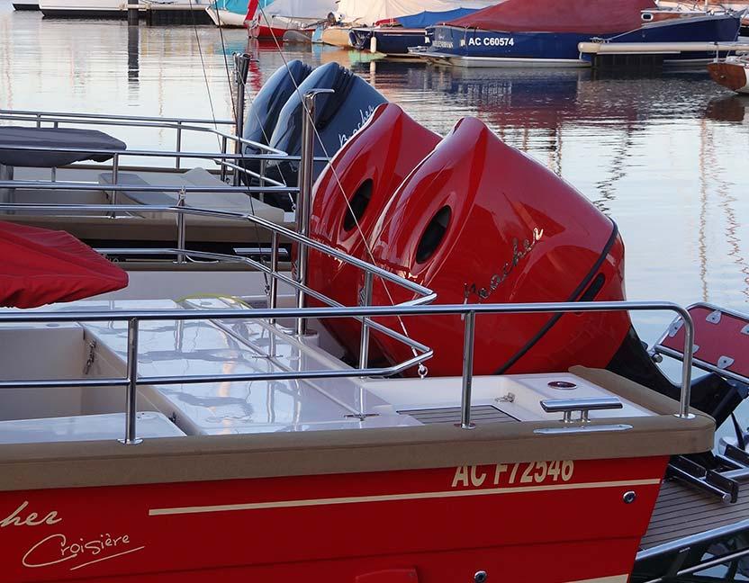 beacher nautique v10 bateau croisiere moteurs