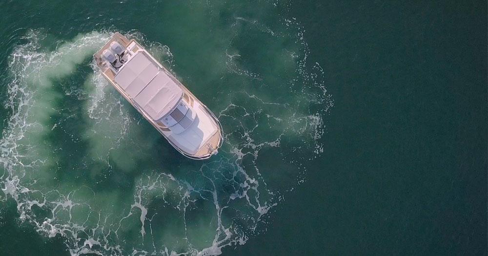 beacher nautique v10 bateau croisiere vue aerienne 2