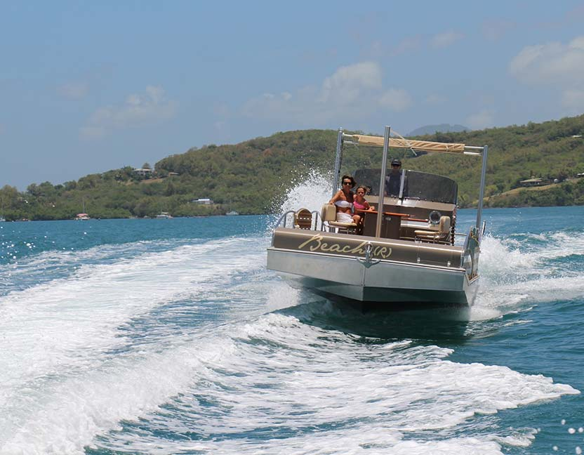 beacher r bateau plaisance personnalise marron